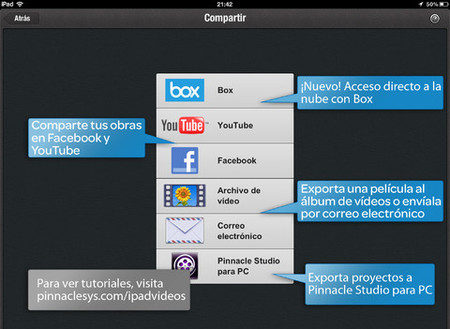 Pinnacle Studio iPad