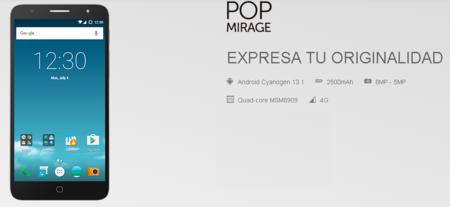 Alcatel Pop Mirage