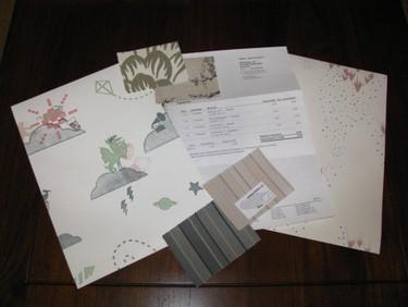 Una buena idea: pedir online muestras de textiles, papeles pintados y pintura