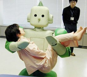 Robot para transportar personas discapacitadas