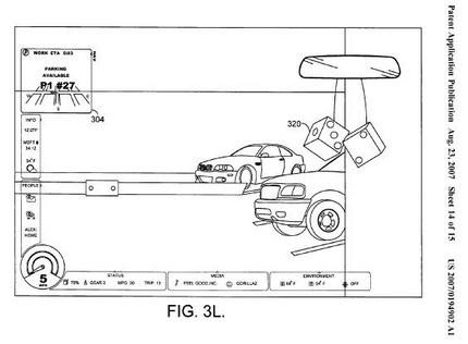 Microsoft patenta unos dados de peluche virtuales que se proyectan sobre el parabrisas