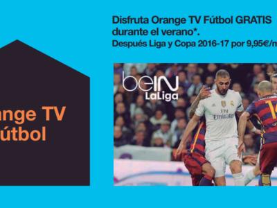 Orange ofrecerá Liga y Copa por 9,95 euros. Con Champions y Europa League por otros 9,95 euros