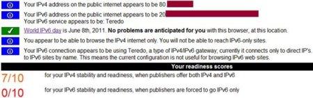 IPv6 RESULTADOS TEST