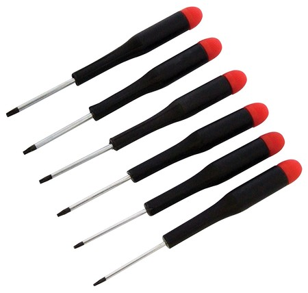 Por 7,50 euros tenemos este set de seis destornilladores de precisión Am-Tech Torx en Amazon