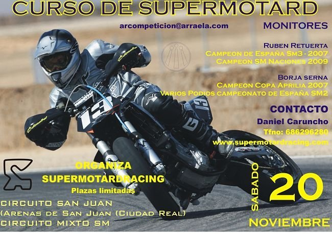 Cartel curso supermotard