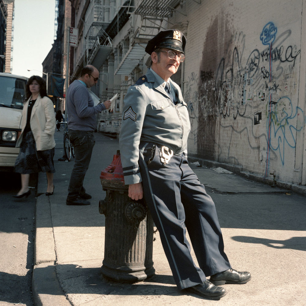 Policeman Soho New York City 1986