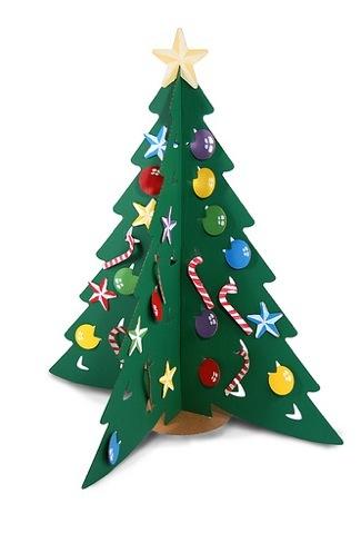 Rboles de navidad de cart n - Como hacer un arbol de papel grande ...