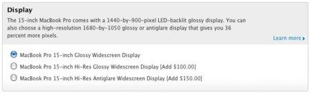 apple store macbook pro pantalla resolución opciones
