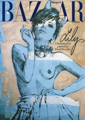 Lily Allen en topless para Harper's Bazaar Australia