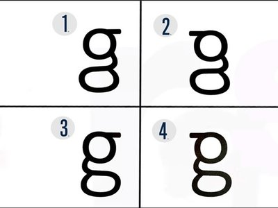 Solo una de cada 16 personas sabe cómo es la letra 'g', ¿Cuál crees que es la correcta?