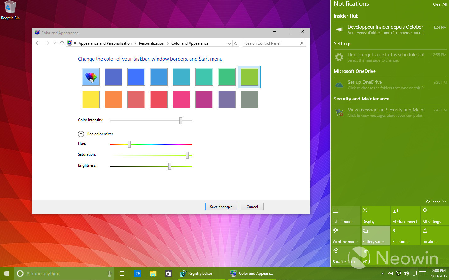 Foto de Temas de colores en Windows 10 build 10056 (7/16)