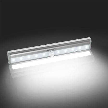 Cupón de descuento de 8 euros en la lámpara de luz  LED recargable para armarios Aglaia: aplicándolo cuesta 9,99 euros en Amazon