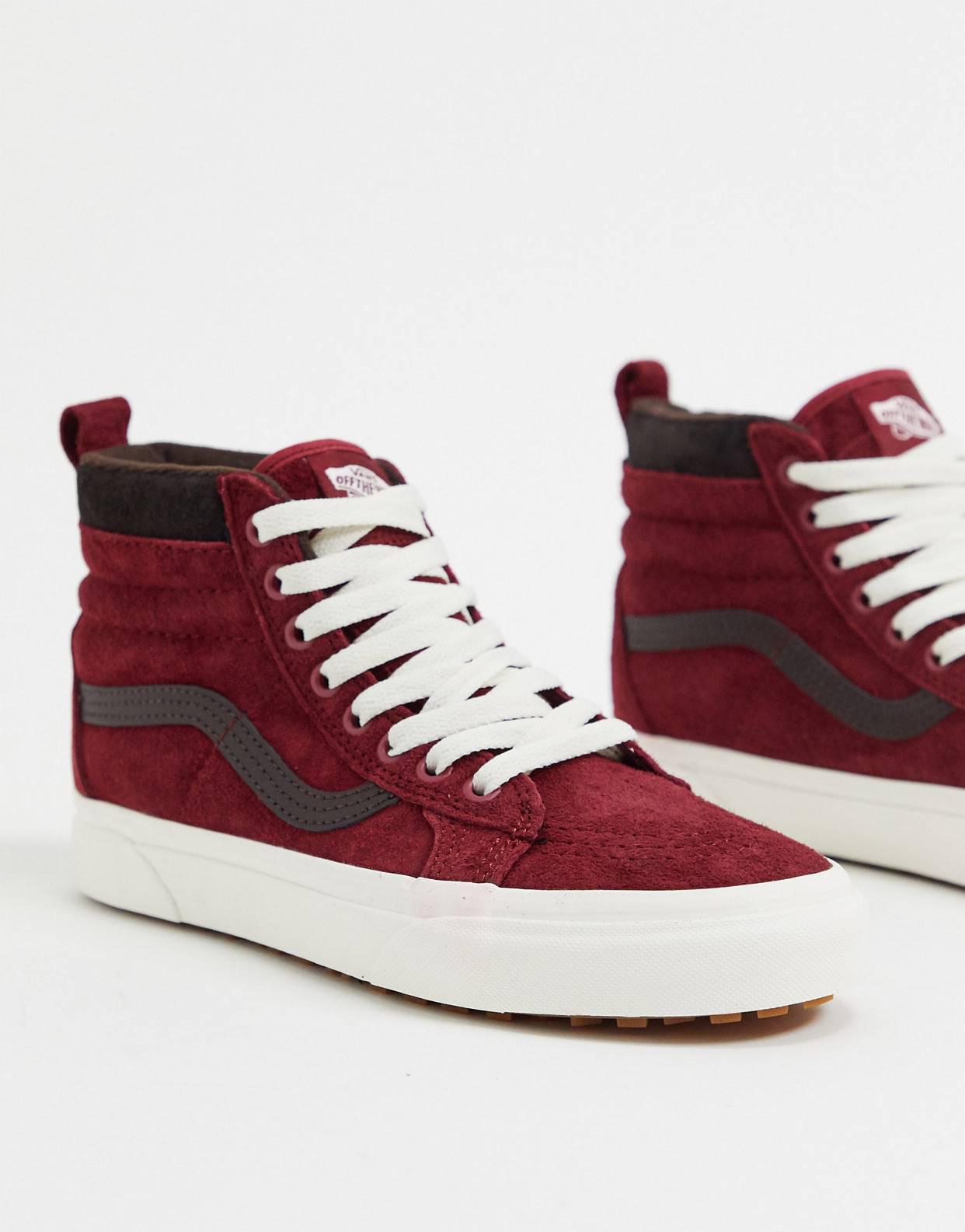 Zapatillas de deporte rojas UA SK8-Hi MTE de Vans