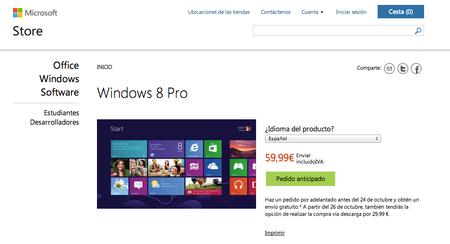 Precios oficiales de Windows 8