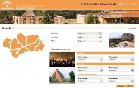 Rutas culturales de Andalucía para visualizar con Google Earth móvil y GPS
