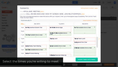 Assistant.to: haz que Gmail te ayude a confirmar reuniones