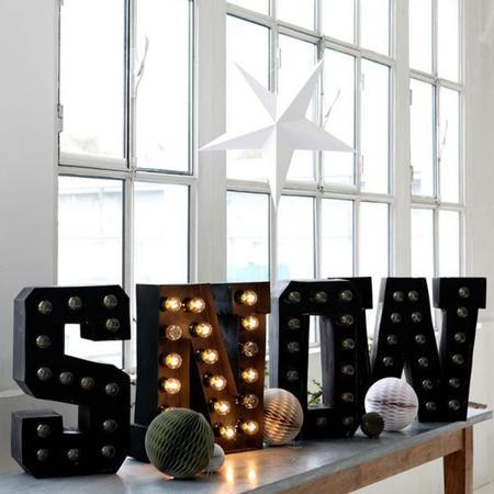 Pon unas estrellas de papel para decorar tus Navidades