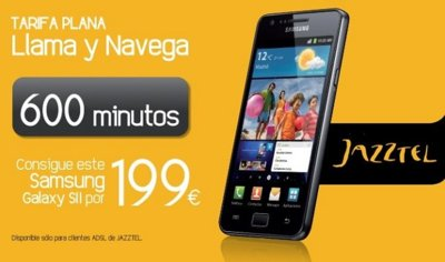 Nueva tarifa Llama y navega con 600 minutos y 500 MB de Jazztel Móvil y oferta junto al Samsung Galaxy SII