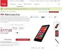 Nokia Lumia Icon aparece en la tienda de Verizon, confirmando sus especificaciones