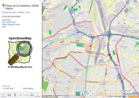 Bing añade capa de Open Street Map y permite ver puntos que otros han creado
