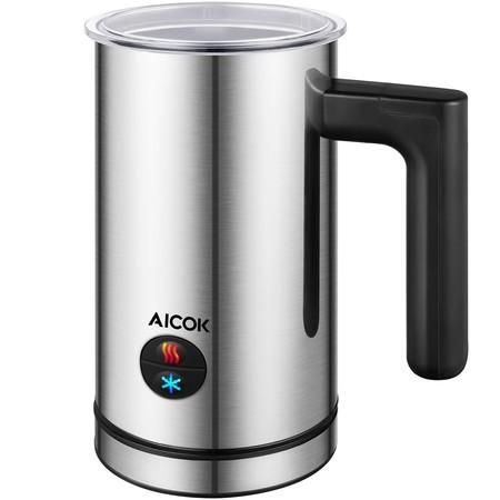 Cupón de descuento de 15 euros en el espumador de leche Aicok: aplicándolo cuesta 21,99 euros en Amazon