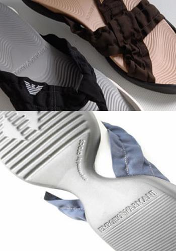 Las zapatillas crocs de Armani