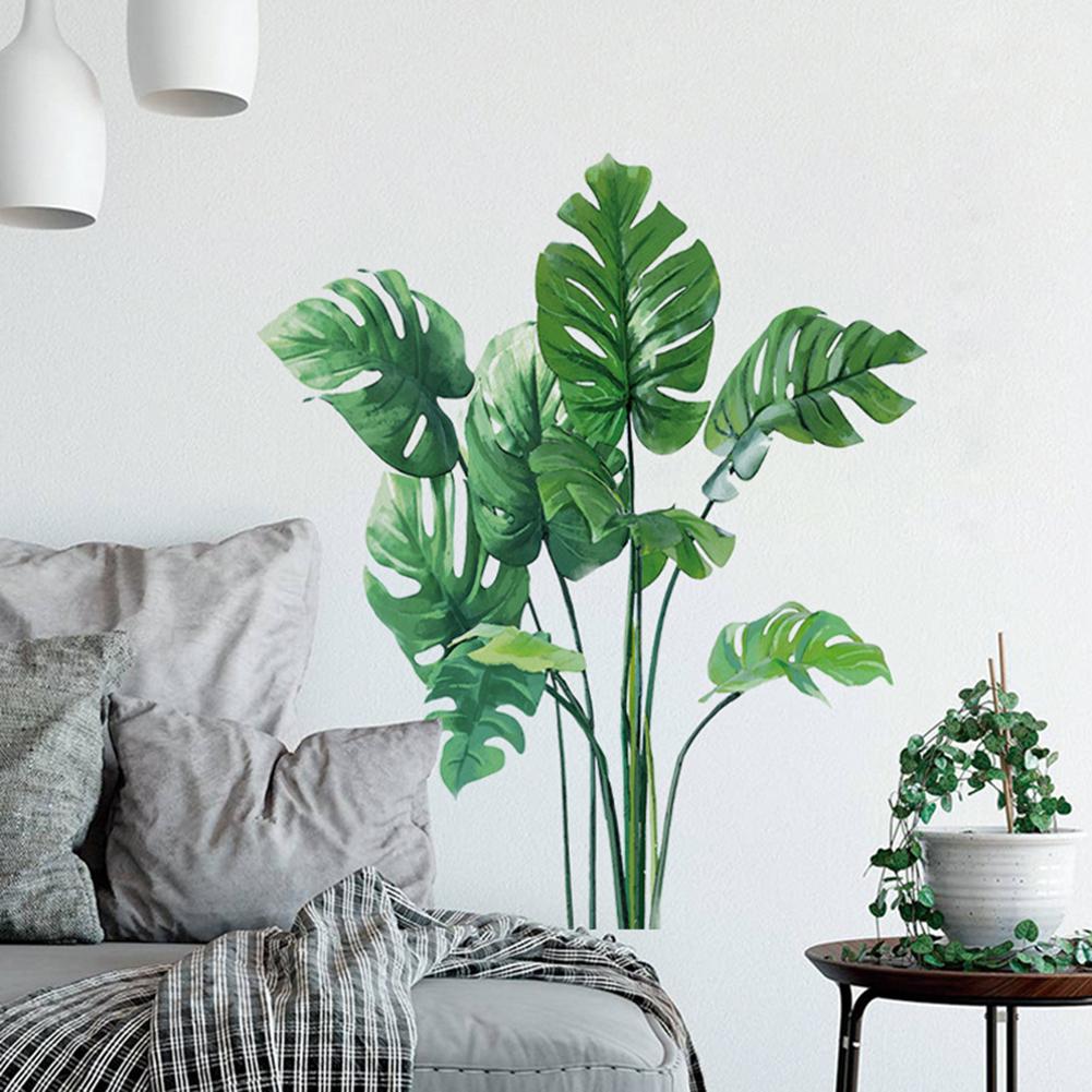 Vinilo decorativo de hojas tropicales de 70cm x 60cm