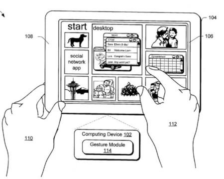 Patente de marco táctil