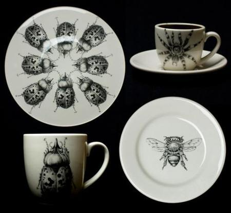 Vajilla para amantes de los insectos
