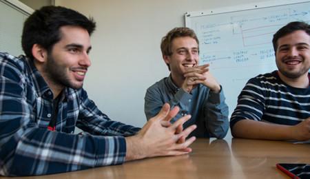 David, Juan y Ángel, del Hyperloop UPV Team