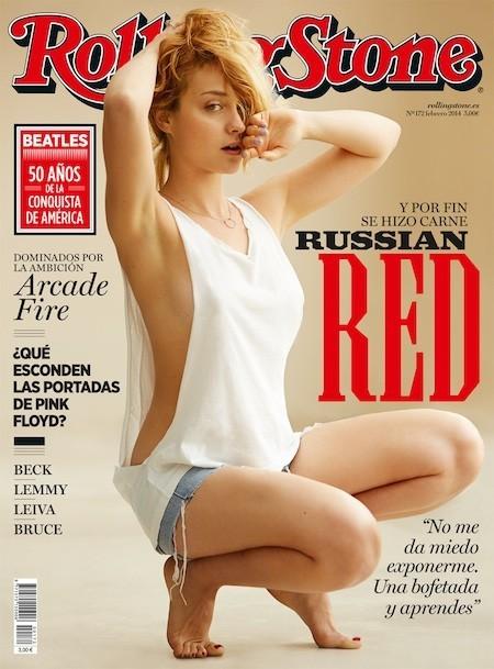 A Russian Red sólo le falta el martillo en la portada de Rolling Stone