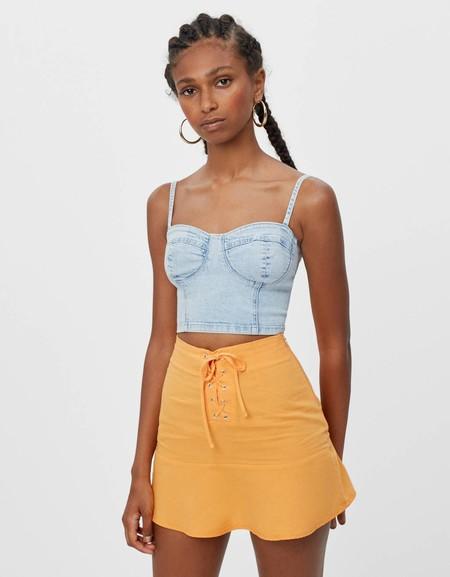 Top corset denim