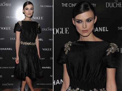 Chanel y Vogue patrocinando la premiere de The Duchess