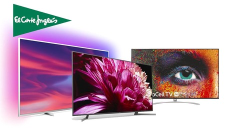 Las mayores diagonales a los mejores precios en la Semana de Internet de El Corte Inglés: smart TVs de gama alta de Sony, Philips o LG con descuentos de hasta el 50%