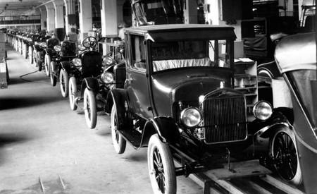 Ford t fabricación cadena de montaje