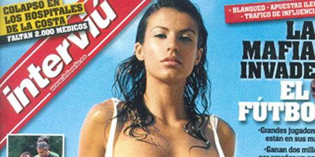 Elisabetta Canalis, la novia de George Clooney, en Interviú