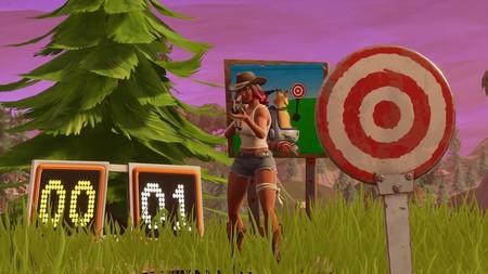 Desafío Fortnite: acierta un objetivo fácil del campo de tiro. Solución
