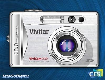 Vivitar ViviCam X30, con 10 megapixels