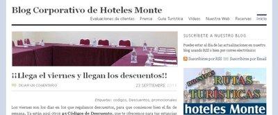 Descuentos en hoteles Monte para alojarte en octubre y noviembre