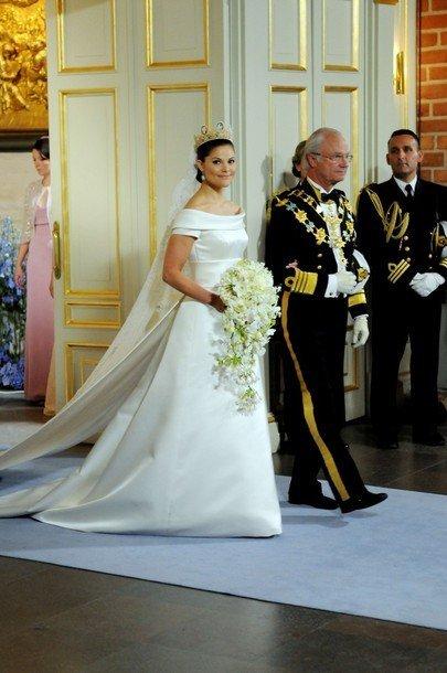 boda de la princesa victoria de suecia: el vestido de novia de la