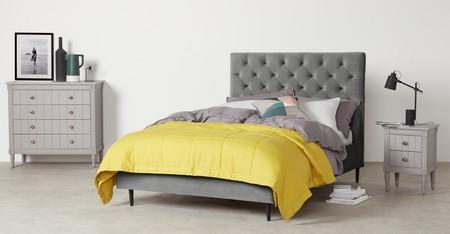 8ae7566320538f44cb6c0a751b8c761e8b56bdd5 Bedsky117gry Uk Skye Double Bed Light Grey Velvet And Black Legs Lb02