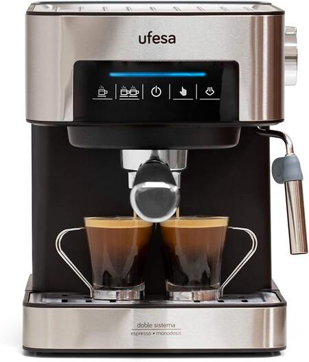 Ufesa Ce7255 Cafetera Expresso Y Capuccino Con Panel Tactil Digital