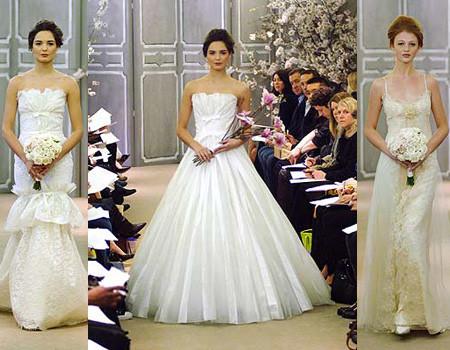 Carolina Herrera en la Semana de la Moda Nupcial de Nueva York verano 2009