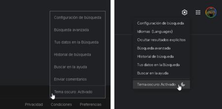 Modo Tema Oscuro Google Com Buscador Web Escritorio Mexico