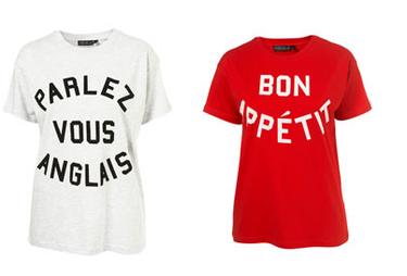"Camisetas ""a la francesa"" de Top Shop"