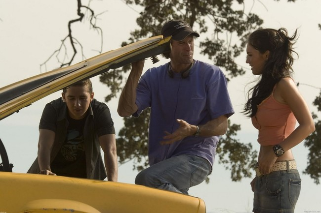 Michael Bay con Shia LaBeouf y Megan Fox