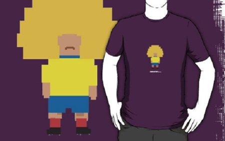 Camisetas mundialistas pixeladas
