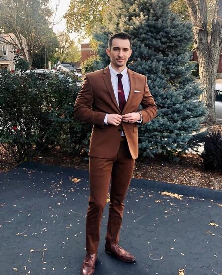 El Mejor Street Style De La Semana Brown Suit Trendencias Hombre 15