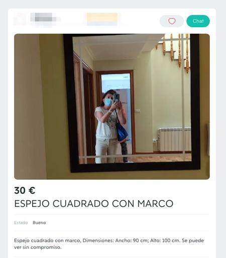 Window Y Espejo Cuadrado Con Marco De Segunda Mano Por 30 Eur En Burela En Wallapop