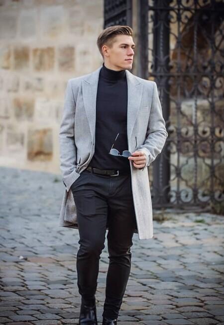El Mejor Street Style De La Semana Sueter Cuello Alto Negro 11